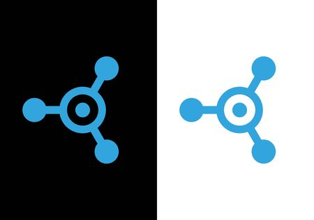 Network connection logo icon design, Abstract hub symbol