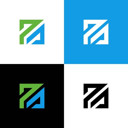 Initial PA letter logo design, creative modern typography - Vector