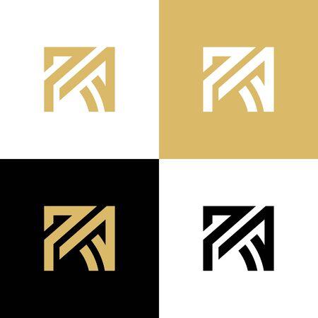 Początkowe elementy szablonu projektu logo litery RA, elegancki projekt logo - Vector Logo