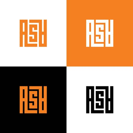 Letter ASA modern typography, vector monogram logo design 일러스트