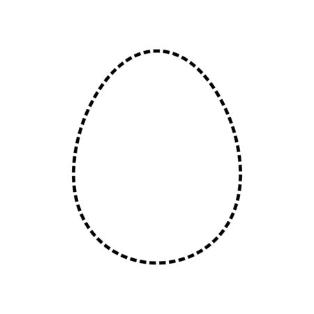 Animal egg shape silhouette, cut line style - Vector