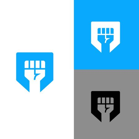 Clenched fist logo icon template, vector illustration design