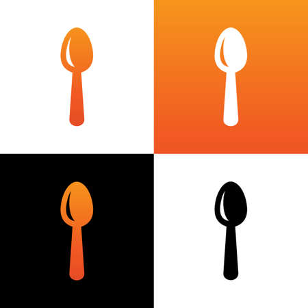 Spoon icon design, restaurant concept illustration, spoon silhouette vector