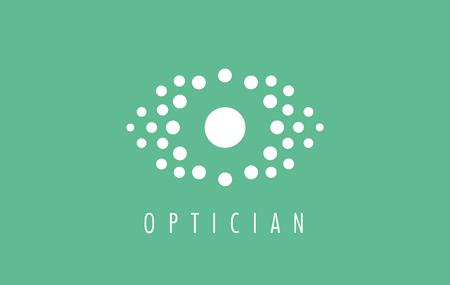 Optician logo. Visual media related logo, symbol, icon and sign. Vector of eye. Optics eye logo design. Media sign. Visual symbol.