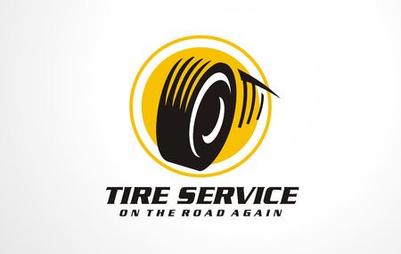 Tire service icon . Transportation sign objects. Car service symbol vector.