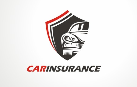 Graphic symbol for car insurance. Automotive protection logo. Icon for car protection or driver safety.