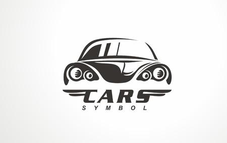 Auto design car logo vector. With concept vehicle icon silhouette. Automotive symbol for service or garage.