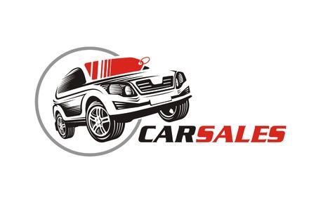 Car sale or service icon. Logo for automotive industry. Auto design vector logo. Automobile repair services icon, sign or symbol. Illustration