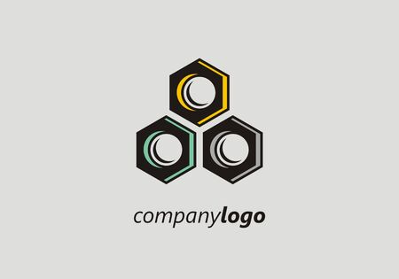 Illustration design metal hardware construction. Work industry element build business. Ilustracja