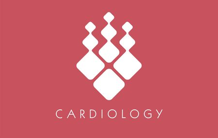 Cardiology abstract artery. Clinical doctor health heart. Cardiology icon droplet element sign . Hospitality graphic medicine red organ. Illustration