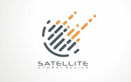 Digital data vector design concept. Satellite signal icon or sign. Symbol for hi tech technology.