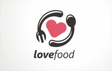 Symbolic talks food forum, restaurant or any happening about healthy food. Free style stylization. It can also be used as logotype, sign, symbol or icon.