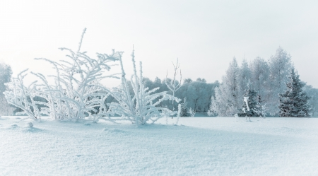 Icy winter embankment covered with snow. Russia, Yaroslavl Stock Photo - 17375918