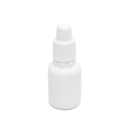 Vial of medication isolated on white background Stock Photo - 19121563