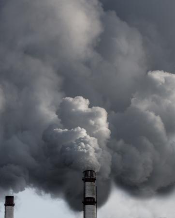 harmful: Factory pollutes the atmosphere harmful emissions. Russia, Yaroslavl