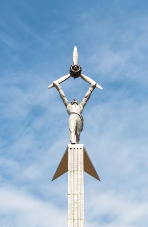 Egy ember, egy motor, emléket a katonák a második világháború, Rybinsk, Oroszország
