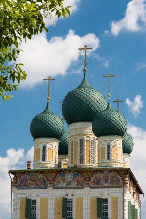 Resurrection Cathedral of Tutaev city, Russia   Part of building Stock fotó