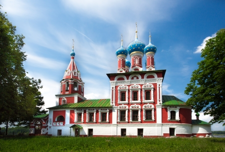 Temple of Tsarevich Dmitry on the Blood of Uglich city, day lighting