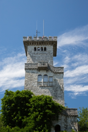 Tower on Mount Akhun, Russia, Sochi; ourdoors shot; view point