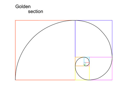Illustration of golden section  ratio