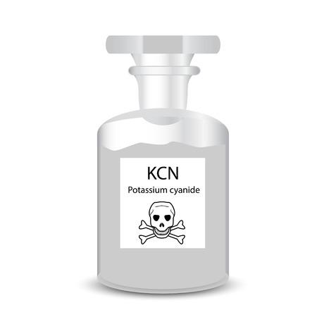 Chemikalienbehälter mit giftigen Stoffes körnigen Kaliumcyanid Standard-Bild - 32013262