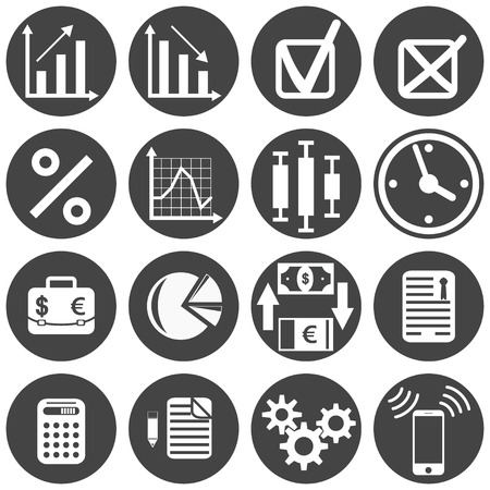 investor: Investor icon set on white background, vector, eps 8
