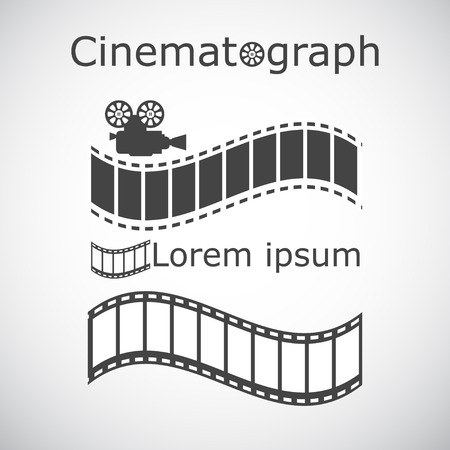 film title: Stylized filming sample text, 2d illustration, vector