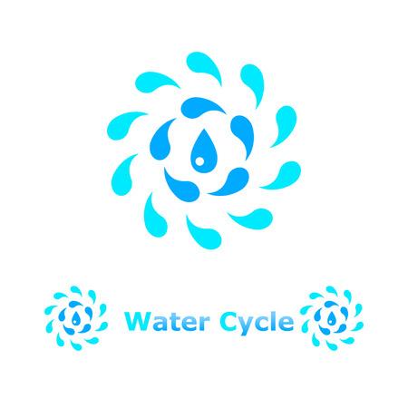 ciclo del agua: Ilustraci�n del concepto de ciclo de agua sobre fondo blanco, 2d, vector, eps 8 Vectores