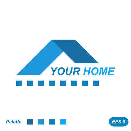 white house: Your home icon concept, 2d flat illustration