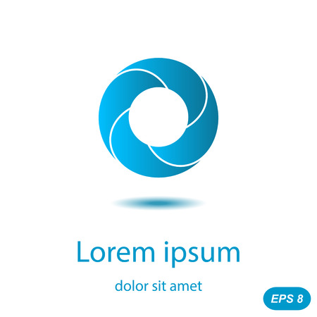 segmented: Segmented circle icon concept on white background, 3d illustration