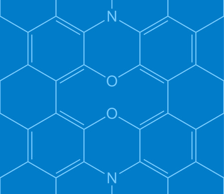 chemical structure: Abstract seamless chemical structure pattern on blue Illustration