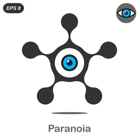 shadowing: Paranoia concept icon