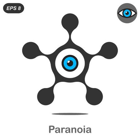 paranoia: Paranoia concetto icona