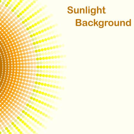 Colorful sunlight background, pentagon sunbeams, 2d illustration, clipping mask, vector, eps 8