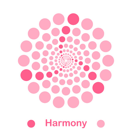 conception: Simple harmony spiral  conception, 2d illustration, vector, eps 8 Illustration