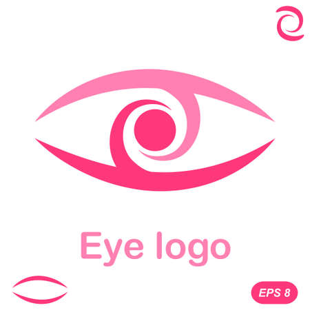 eyes: Eye logo conception, 2d flat illustration