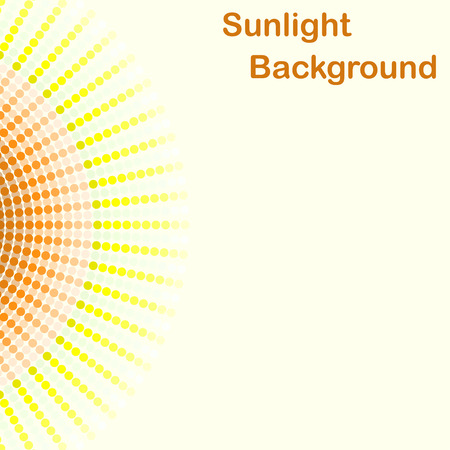 sunbeams: Colorful sunlight background, round sunbeams, 2d illustration, clipping mask, vector, eps 8 Illustration