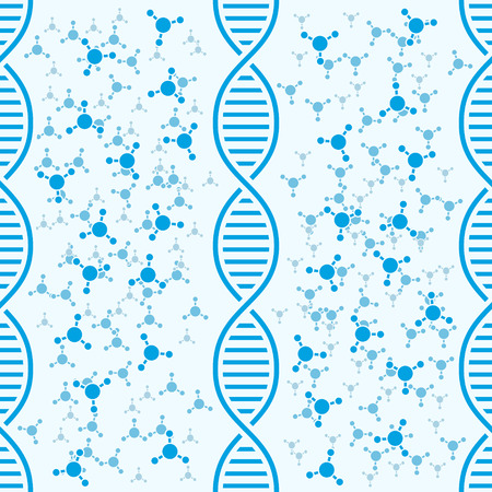 DNA background with molecules, 2d illustration, clipping; mask, vector, eps 8 Vector