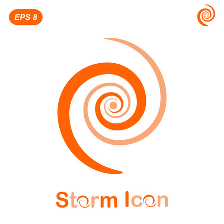 impetuous: Storm spiral concept on white background, 2d flat illustration, vector, eps 8 Illustration