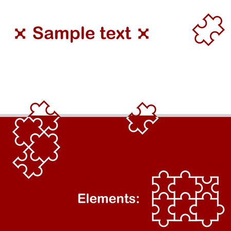 conundrum: Background with puzzle elements, 2d illustration, vector, eps 8