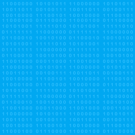 programing: Binary code seamless background, 2d illustration, vector, eps 8