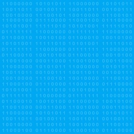 programing: Binary code seamless background, 2d illustration, vector, eps 8