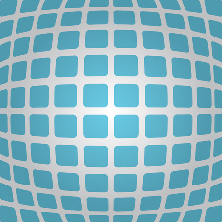 curving: Bulging blue background with rounded rectangles, 3d illustration, vector, eps 10