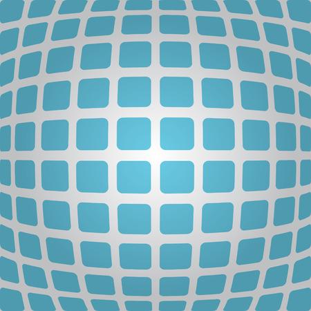 deform: Bulging blue background with rounded rectangles, 3d illustration, vector, eps 10