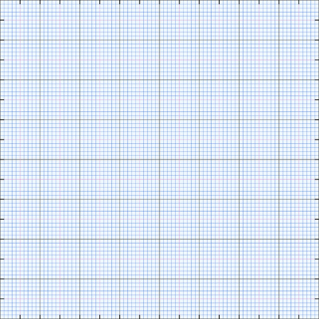 breadth: Graph paper grid background, blue color, 2d illustration, vector