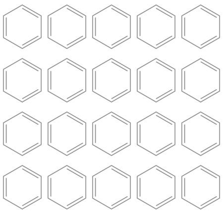 benzene: Seamless chemical benzene background, 2d illustration, vector, eps 8 Illustration