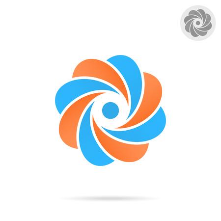 signo infinito: C�rculo segmentado - carta concepto o, ilustraci�n 3d