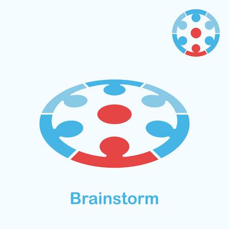 brainstorm: Brainstorm  concept, 2d & 3d illustration, vector