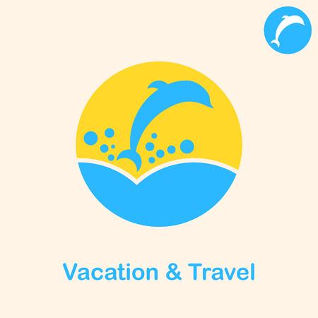 grampus: Travel concept sign, 2d flat illustration, vector,  Illustration