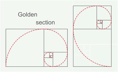 golden section: Golden section, 2d illustration, vector  Illustration